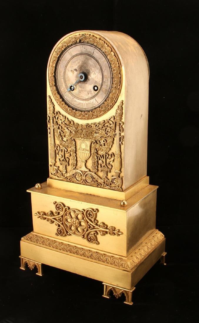 GOLD GILT FRENCH MANTEL CLOCK