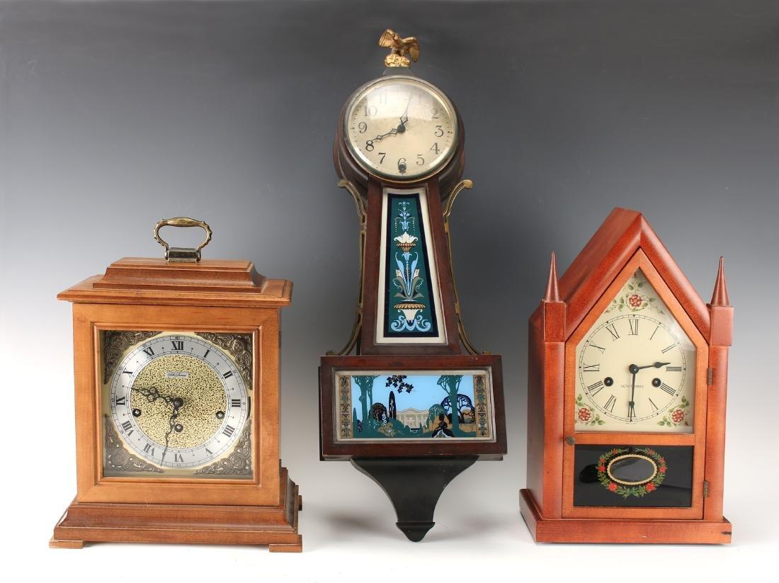 THREE CLOCKS SETH THOMAS, NEW HAVEN