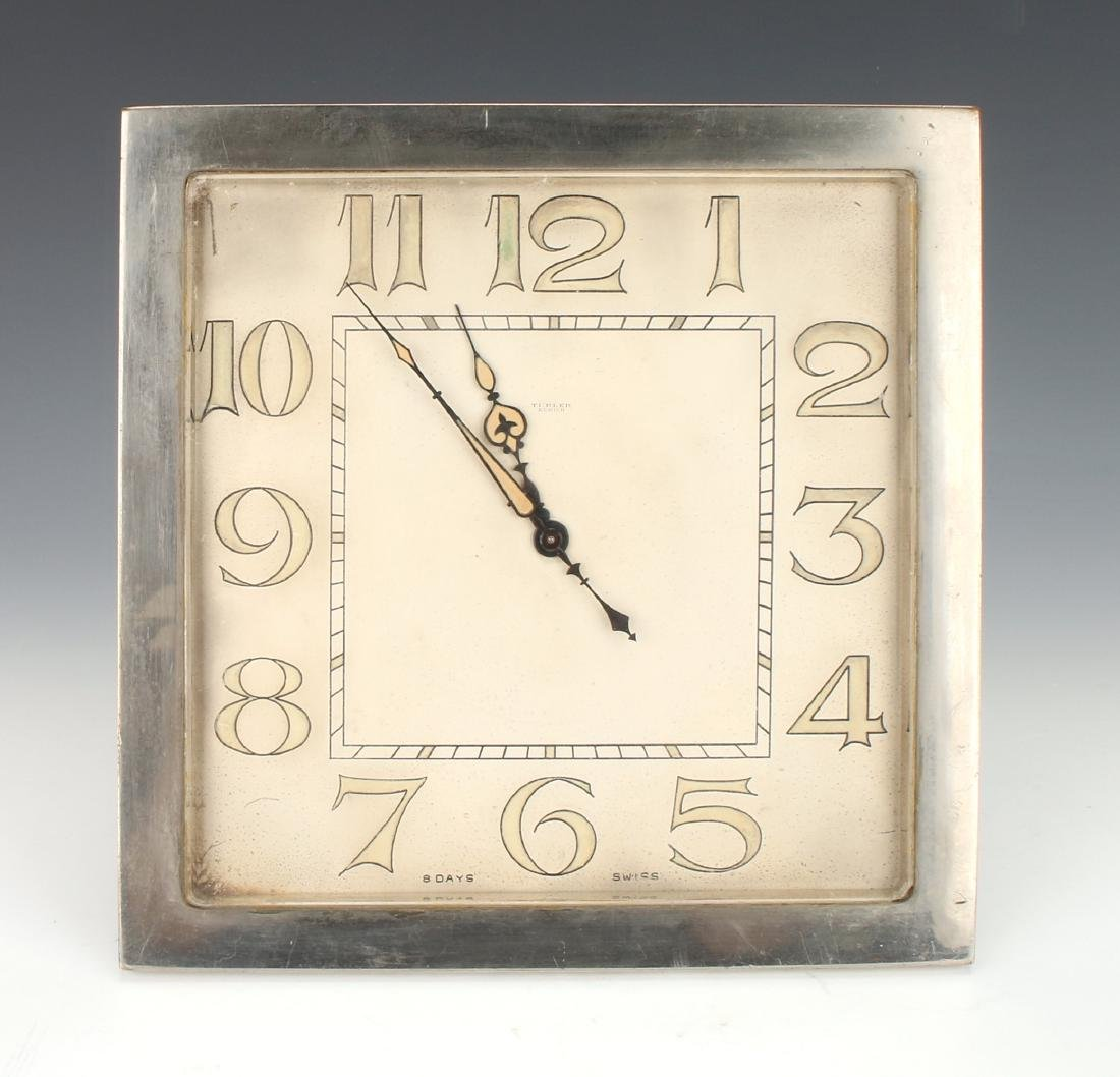 ART DECO SWISS DESK CLOCK TURLER ZURICH