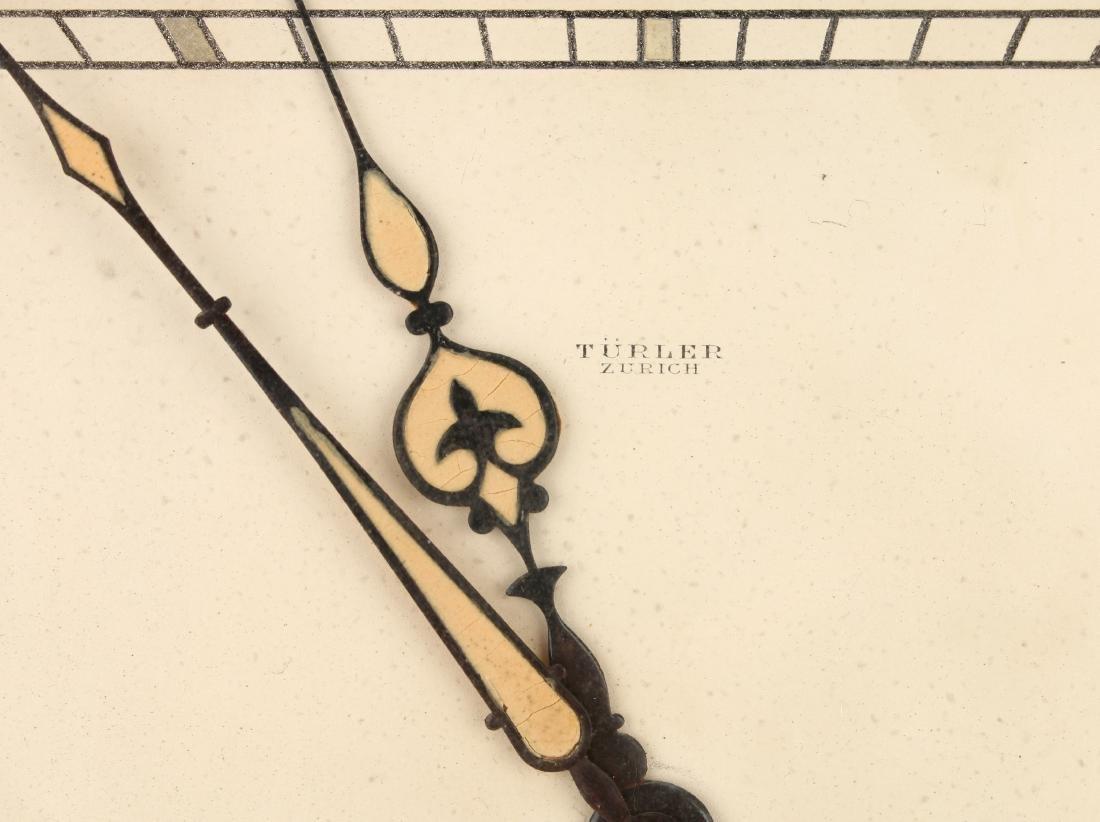 ART DECO SWISS DESK CLOCK TURLER ZURICH - 4