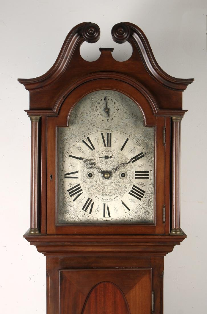 J.E. CALDWELL TALL CASE CLOCK EARLY 20TH C - 2