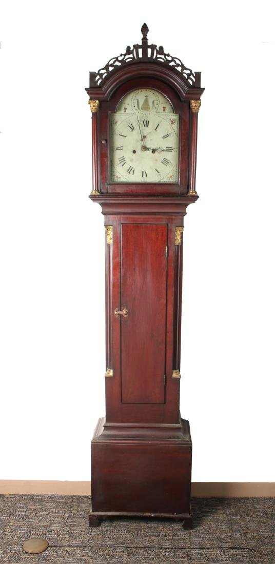 MID 19TH C. CONNECTICUT TALL CASE CLOCK