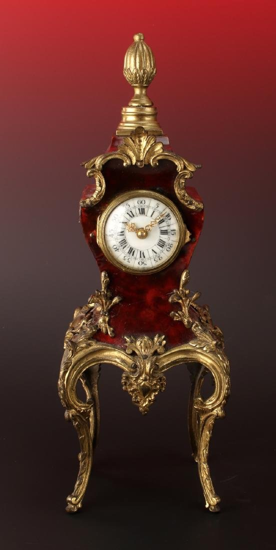 FRENCH DESK BOULLE STYLE CLOCK