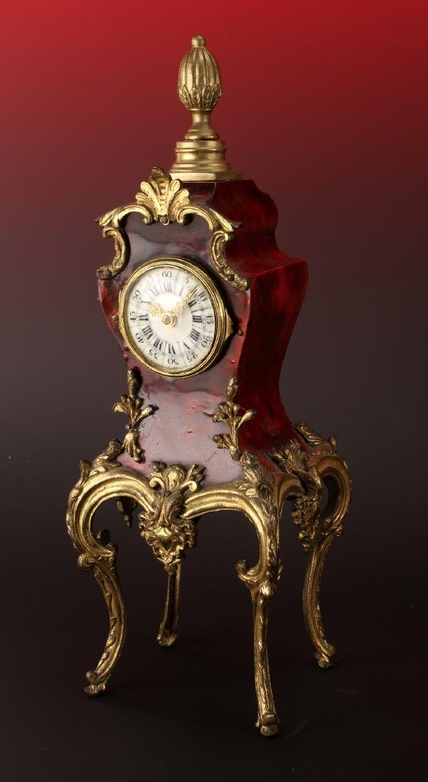 FRENCH DESK BOULLE STYLE CLOCK - 2
