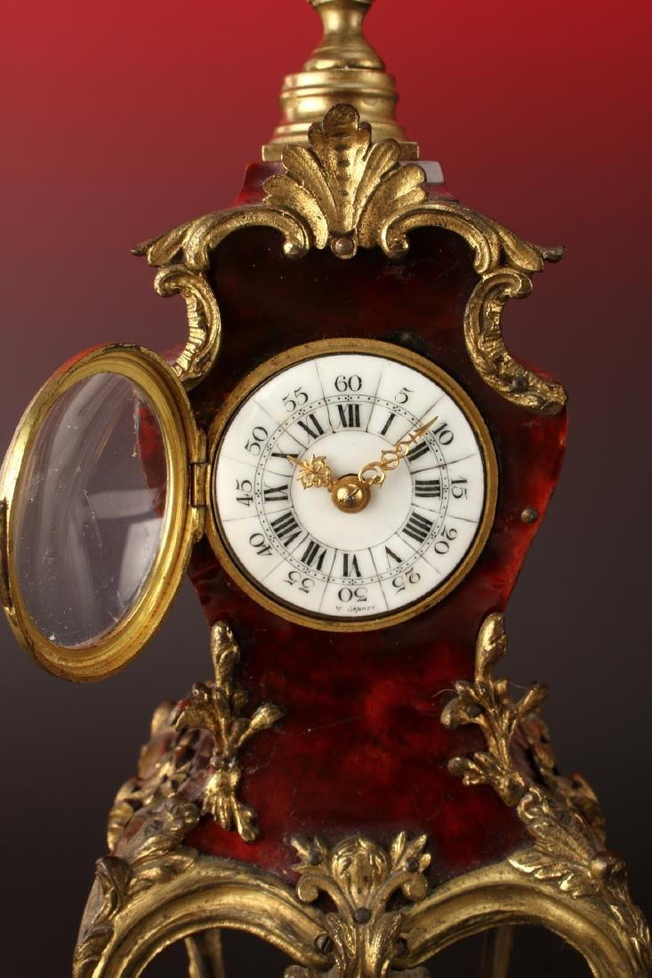 FRENCH DESK BOULLE STYLE CLOCK - 3