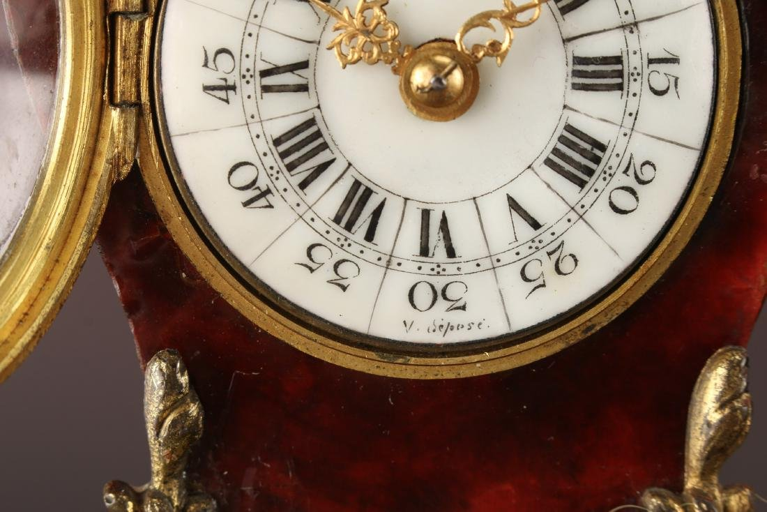 FRENCH DESK BOULLE STYLE CLOCK - 4