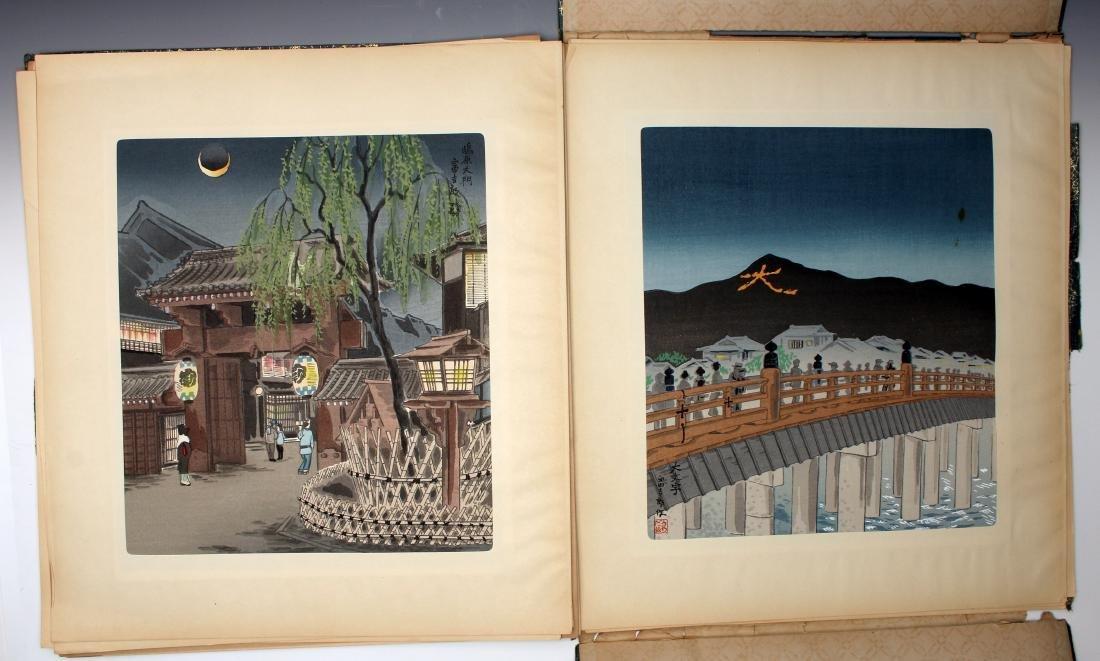12 JAPANESE WOOD BLOCK PRINTS BY TOKIRIKI - 6