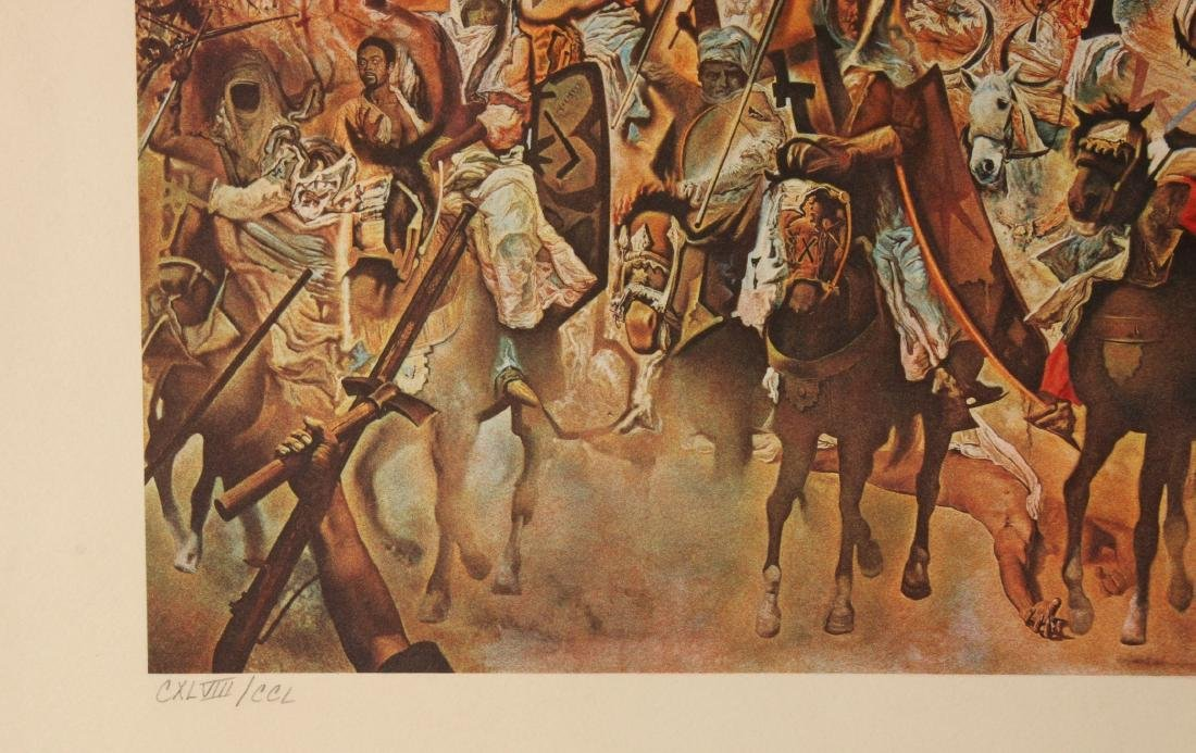 DALI LITHOGRAPH BATTLE OF TETUAN 148/250 SIGNED - 4