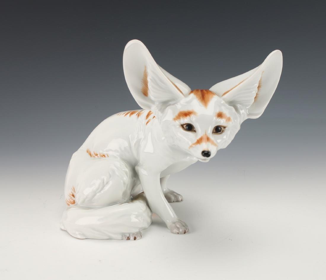 RARE AUGARTEN AUSTRIA PORCELAIN FOX FIGURINE