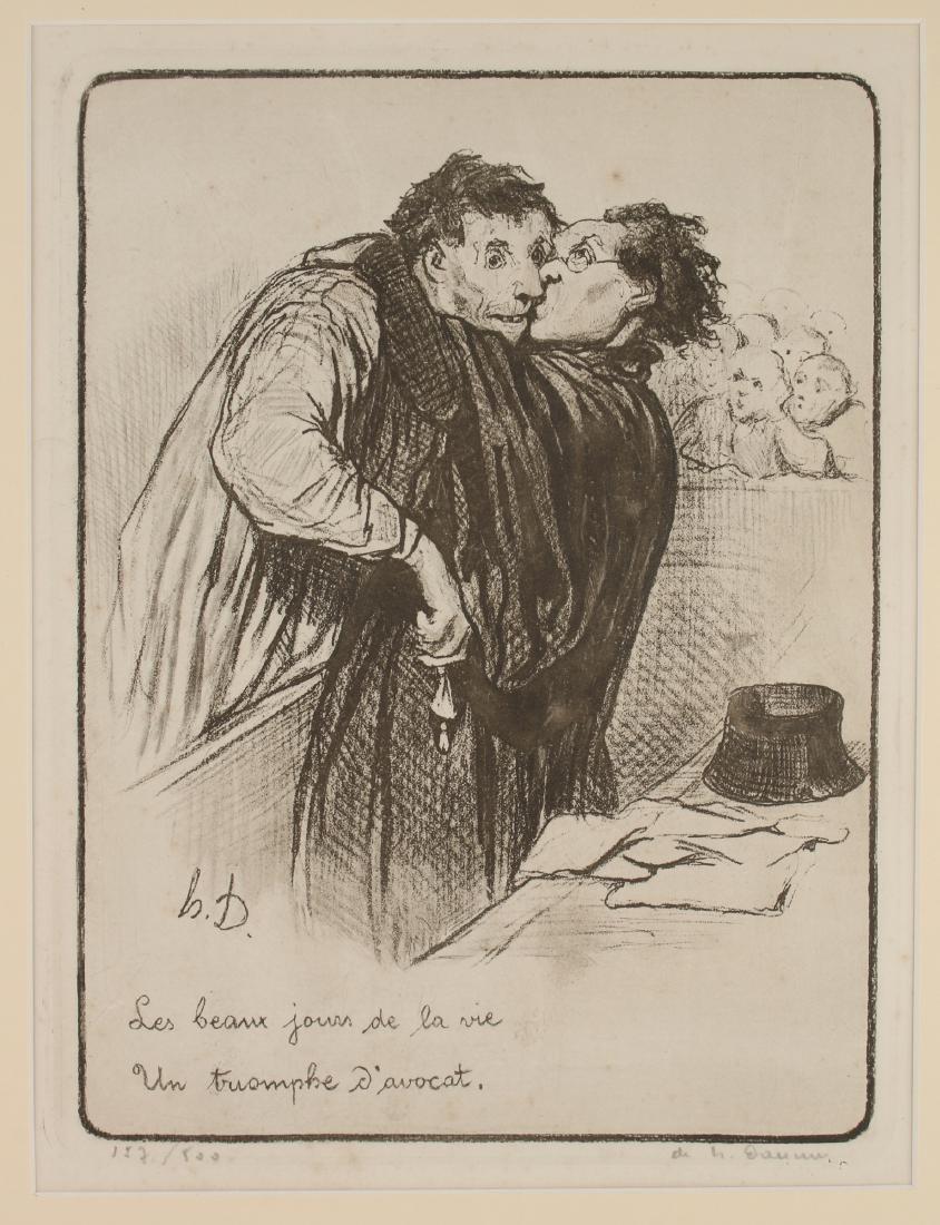 HONORÉ DAUMIER D'AVOCAT PRINT