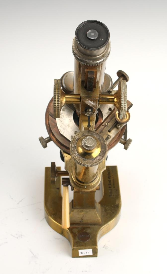 ANTIQUE BAUSCH & LOMB OPTICAL CO. MICROSCOPE 1925 - 3