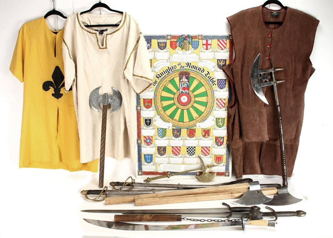 """COLLECTION OF """"MUSEUM REPLICA"""" WEAPONS & GARB"""
