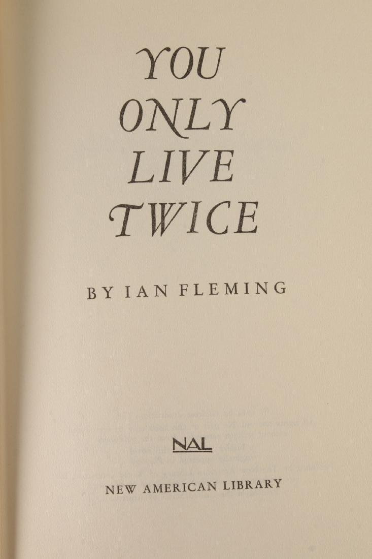 """IAN FLEMING """"YOU ONLY LIVE TWICE"""" FIRST EDITION - 2"""