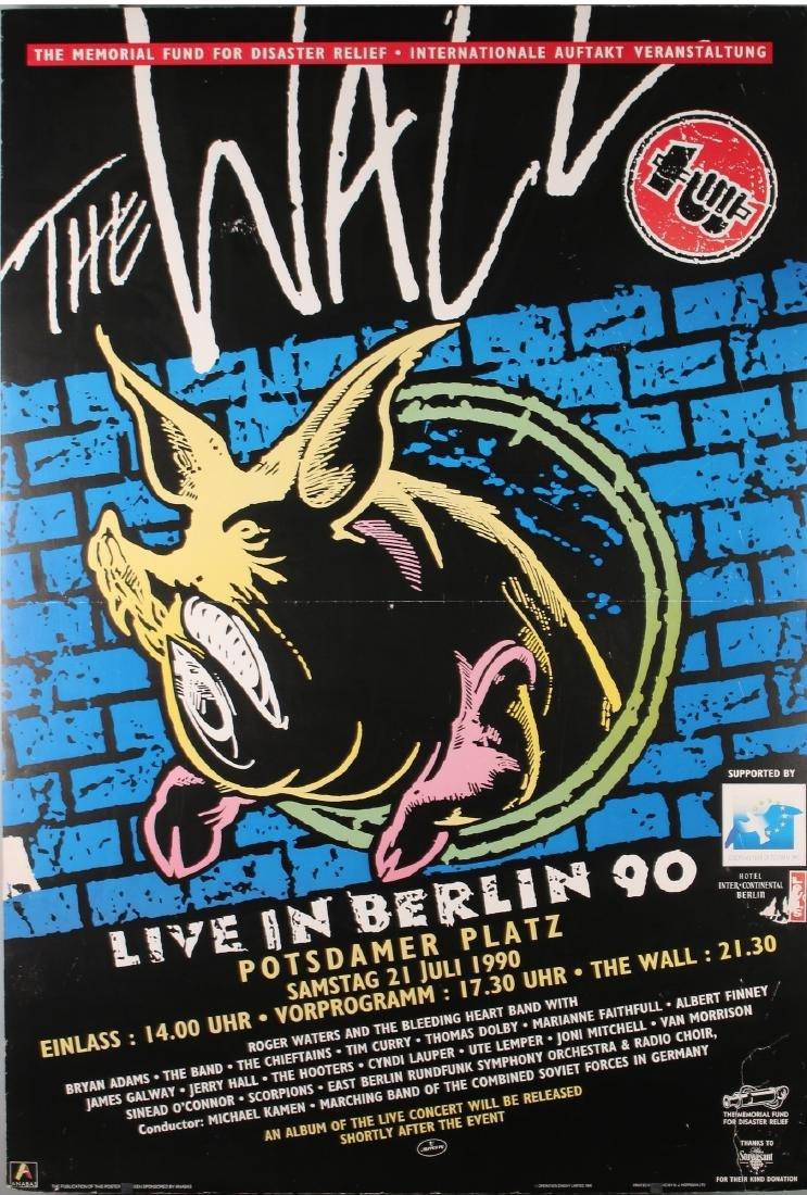 """ROGER WATERS """"THE WALL LIVE IN BERLIN 90"""" POSTER"""