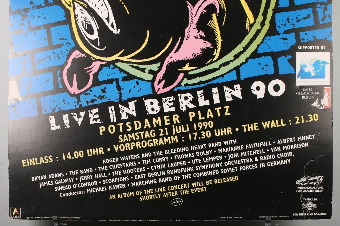 """ROGER WATERS """"THE WALL LIVE IN BERLIN 90"""" POSTER - 2"""
