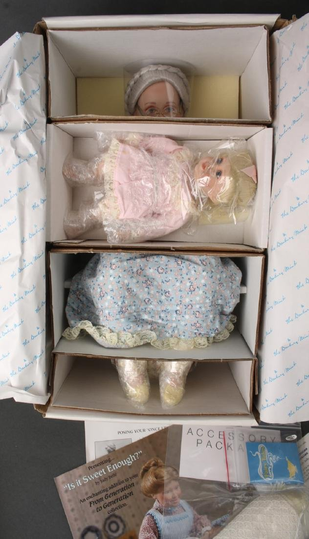 TWO DANBURY MINT ONCE UPON A TIME GRANDMA DOLLS - 3