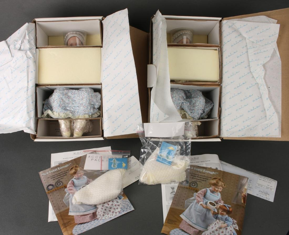TWO DANBURY MINT ONCE UPON A TIME GRANDMA DOLLS - 7