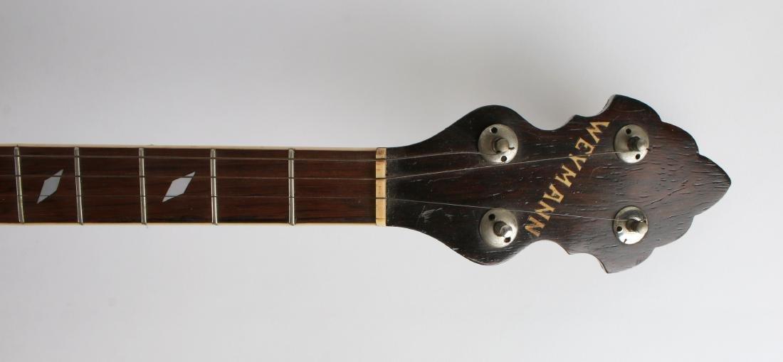 1931 TENOR WEYMANN FOUR STRING BANJO W RESONATOR - 2