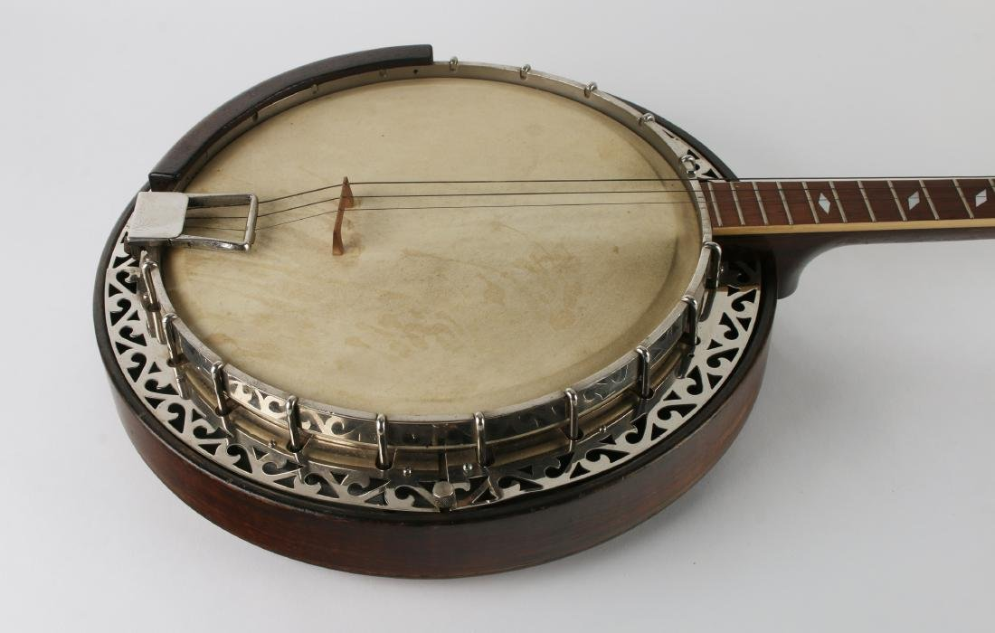 1931 TENOR WEYMANN FOUR STRING BANJO W RESONATOR - 3