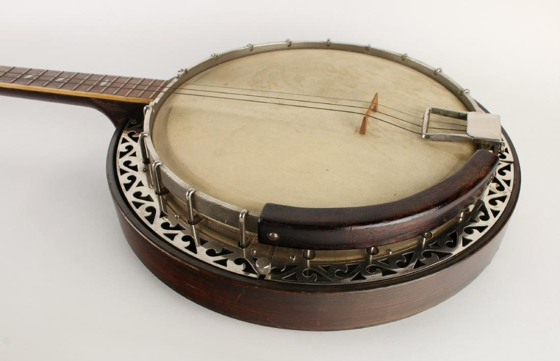 1931 TENOR WEYMANN FOUR STRING BANJO W RESONATOR - 4
