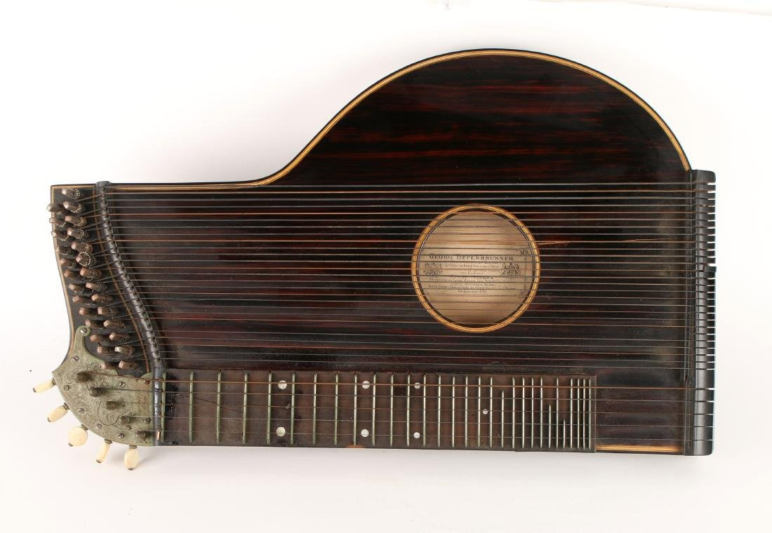 ANTIQUE 31 STRING TIEFENBRUNNER 1842 ZITHER