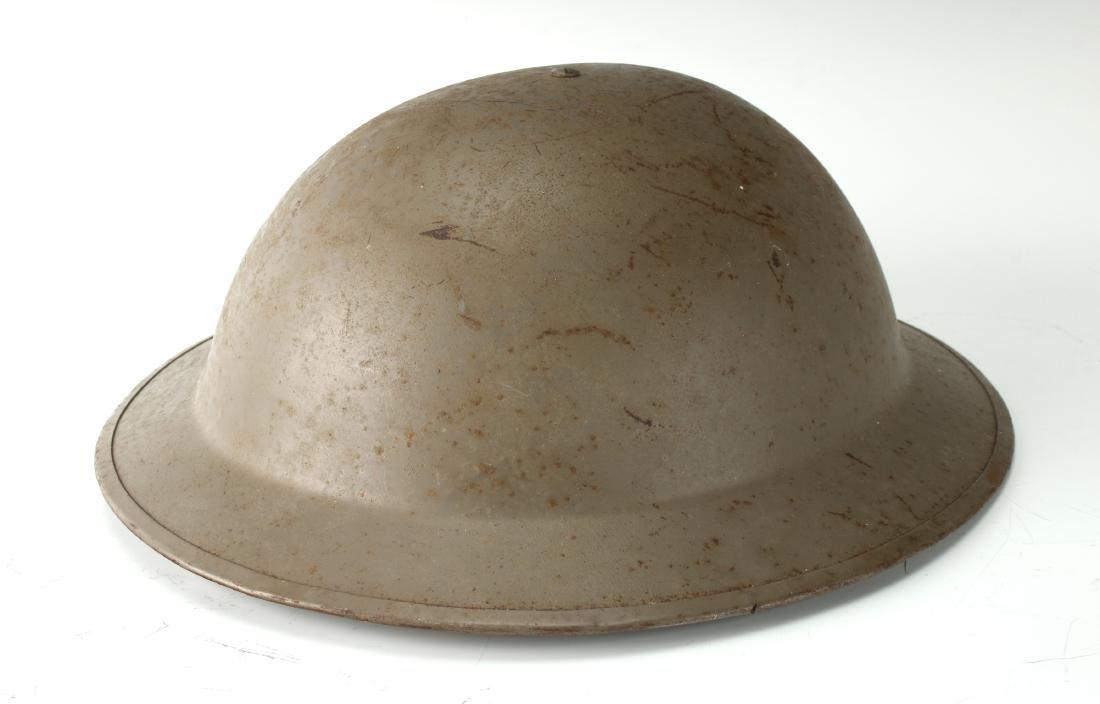 WWI DOUGHBOY HELMET, DISH PAN HAT