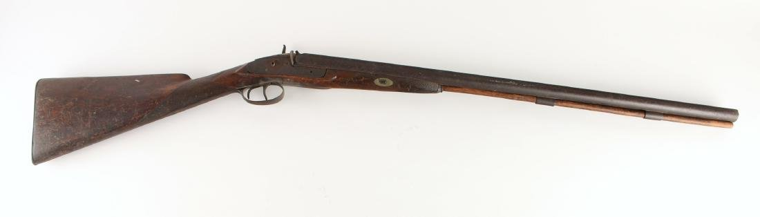 ANTIQUE DOUBLE BARREL SHOTGUN