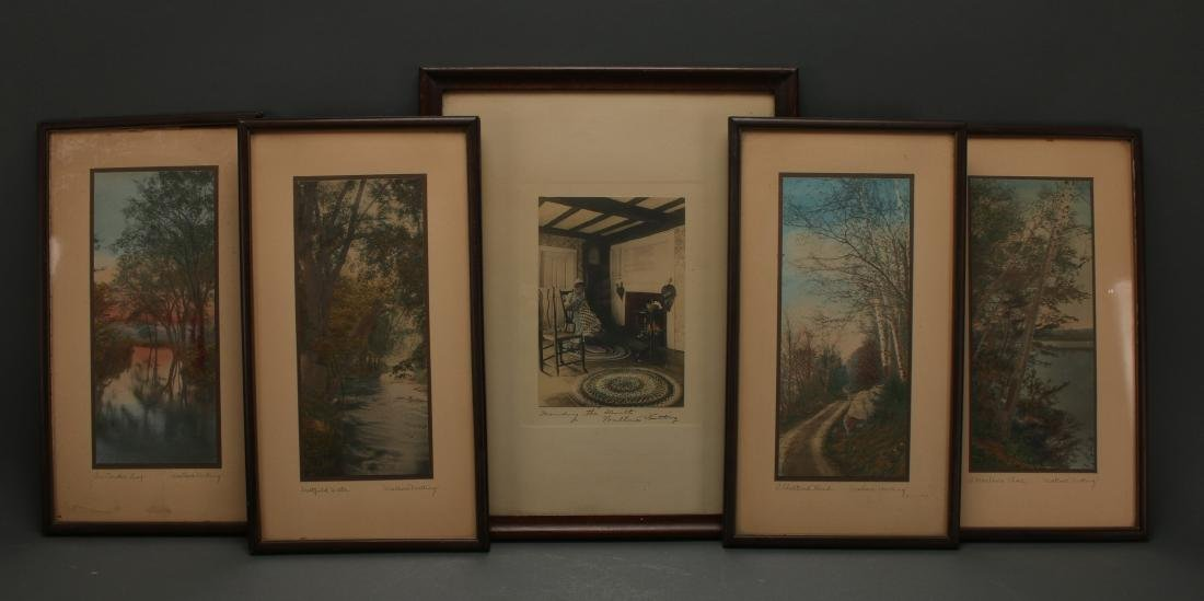 FIVE WALLACE NUTTING HAND COLORED PHOTOGRAPHS