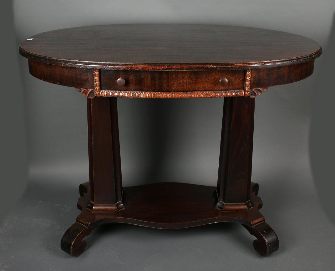 VICTORIAN EMPIRE TABLE WITH DRAWER