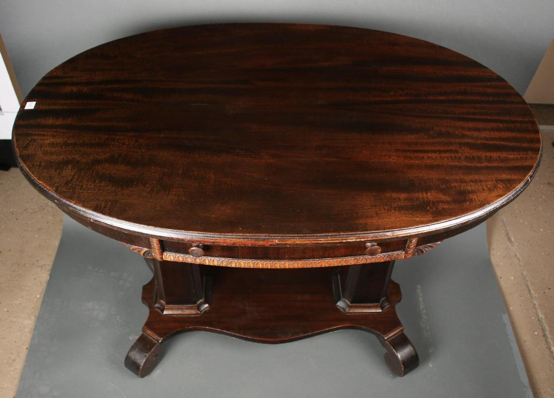VICTORIAN EMPIRE TABLE WITH DRAWER - 3