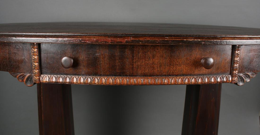 VICTORIAN EMPIRE TABLE WITH DRAWER - 5