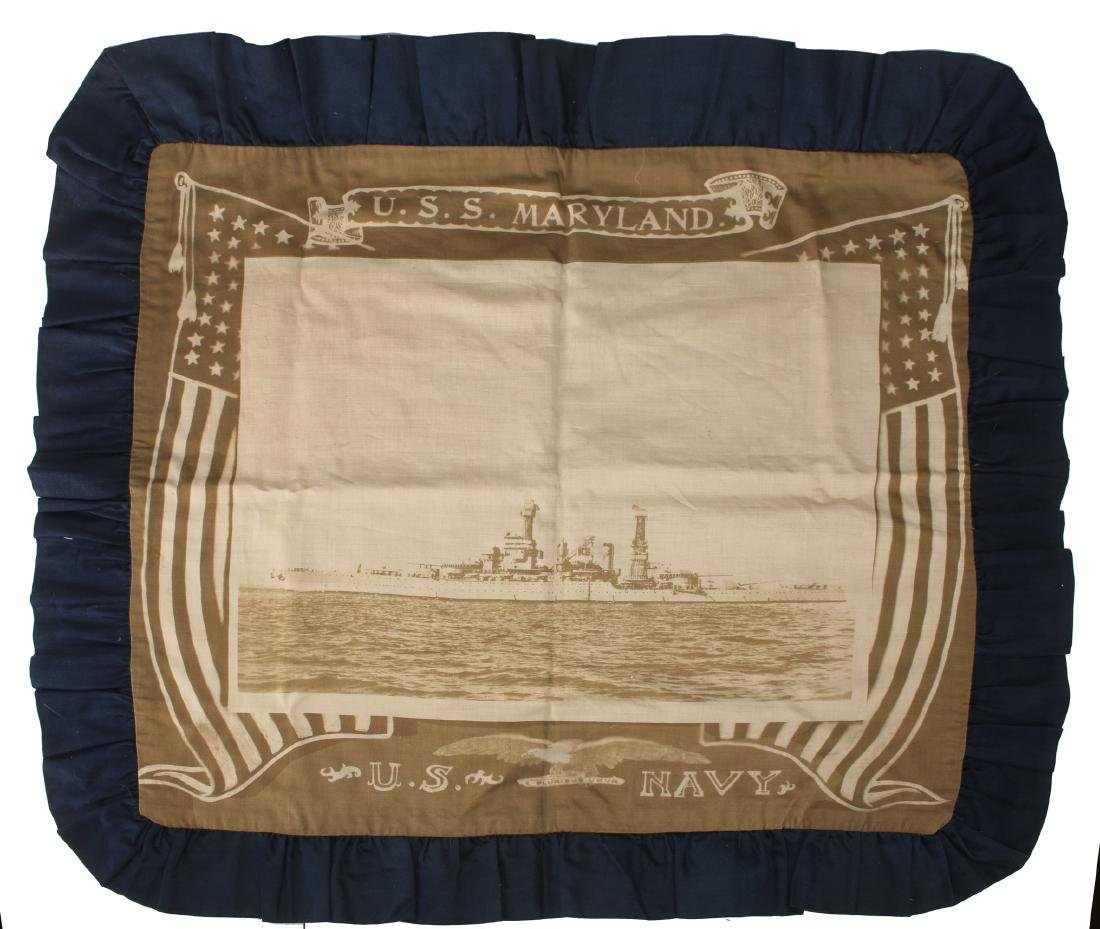 USS MARYLAND PILLOW COVER
