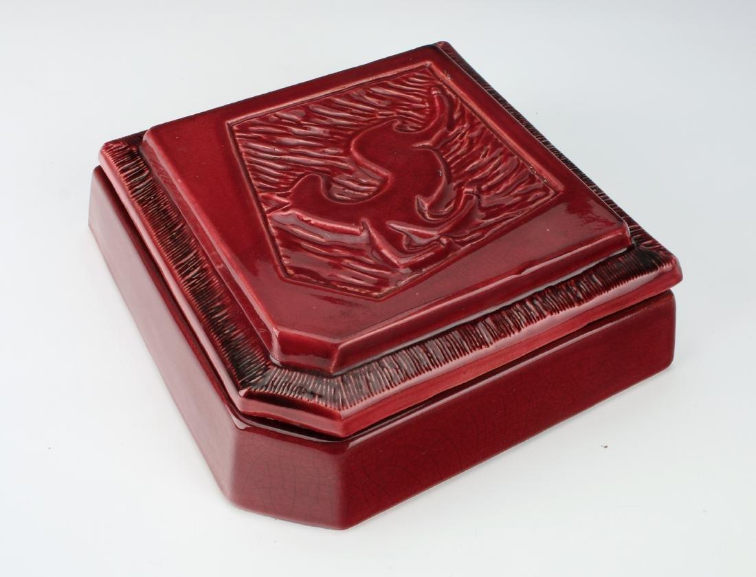 1940'S CERAMIC DEER CIGARETTE BOX - 4