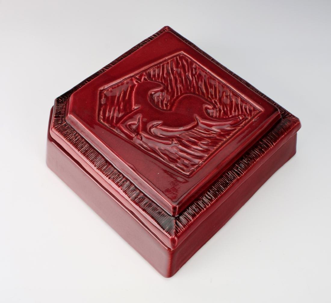1940'S CERAMIC DEER CIGARETTE BOX - 7