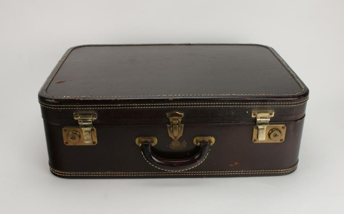 VINTAGE LEATHER STRATOSPHERE SUITCASE