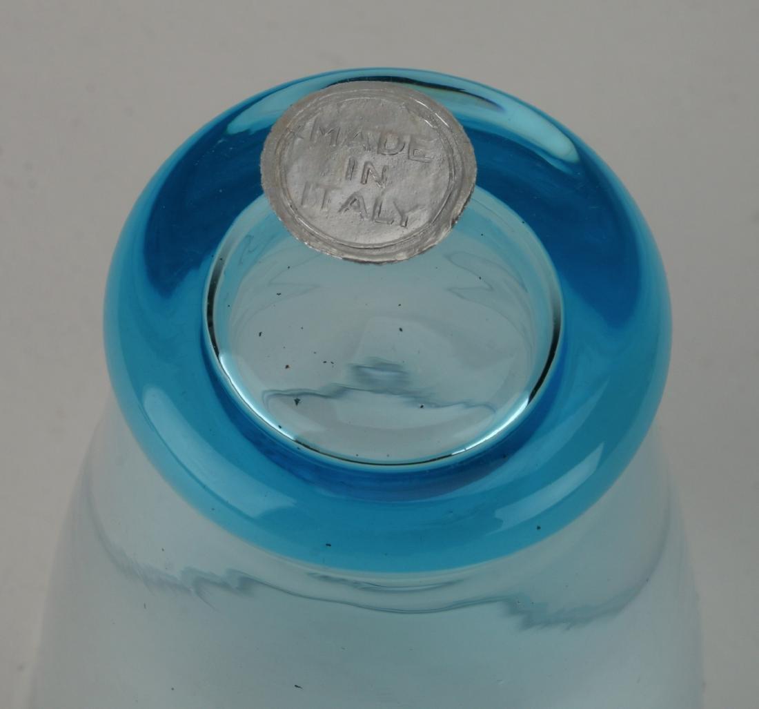 MID CENTURY ITALIAN GLASS DECANTER W/ SIX GLASSES - 8