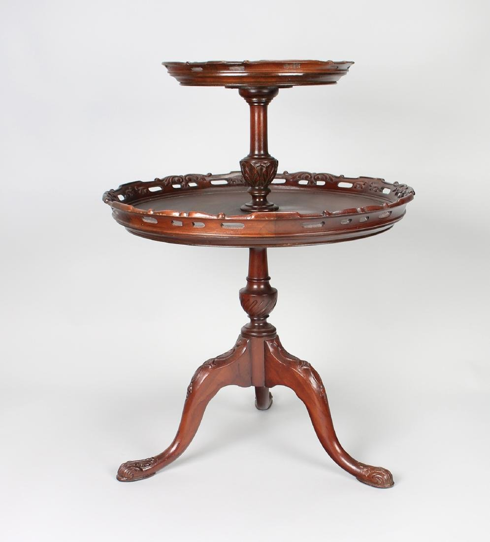 TWO TIER QUEEN ANNE PIE CRUST TABLE - 6