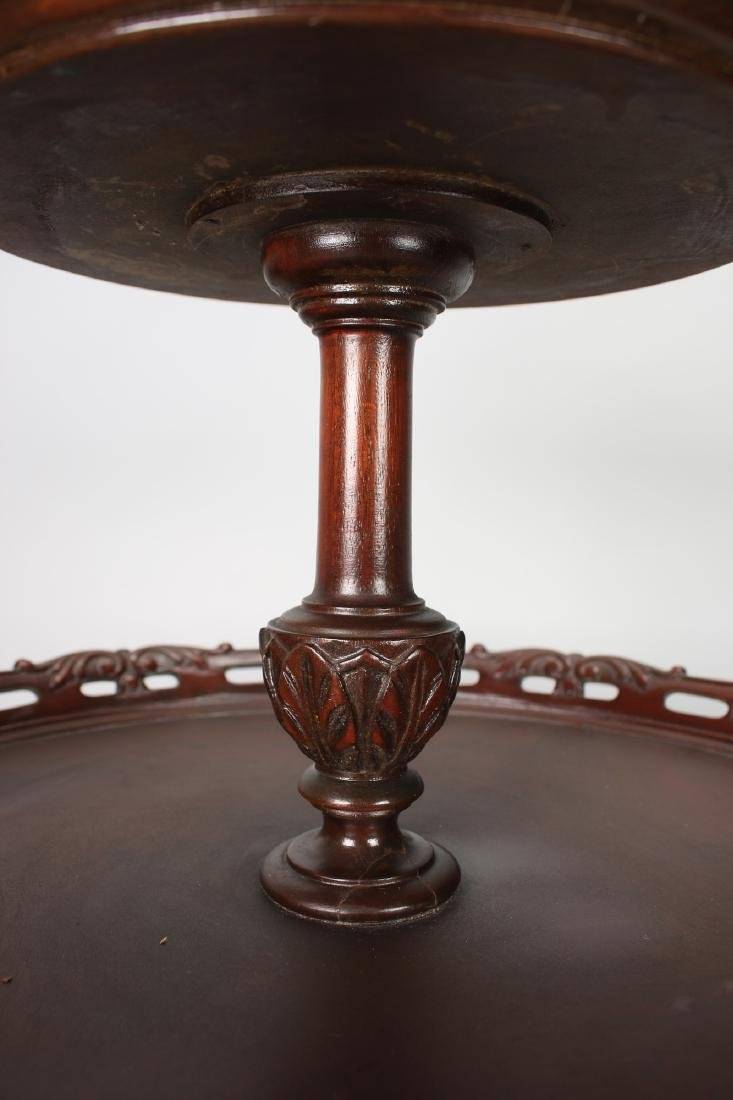 TWO TIER QUEEN ANNE PIE CRUST TABLE - 7