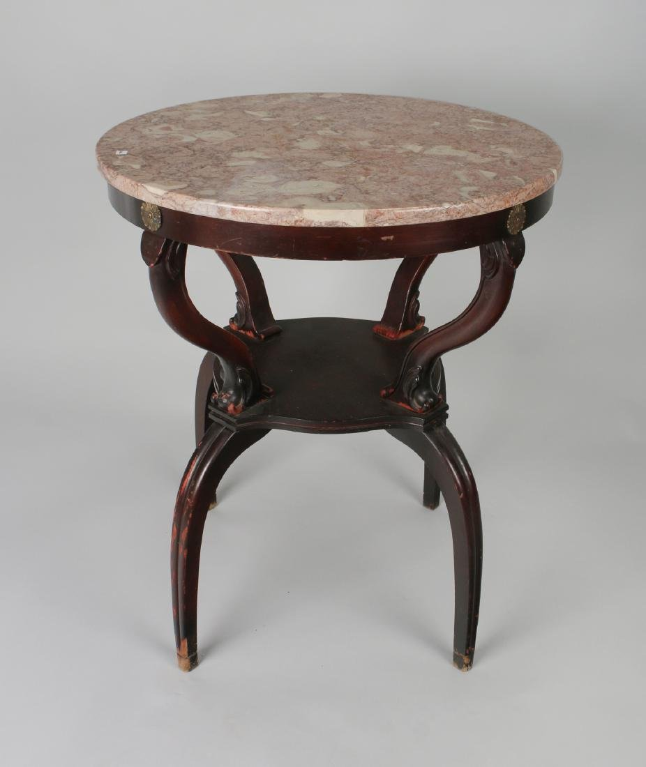 VINTAGE MARBLE TOP TABLE 1940S