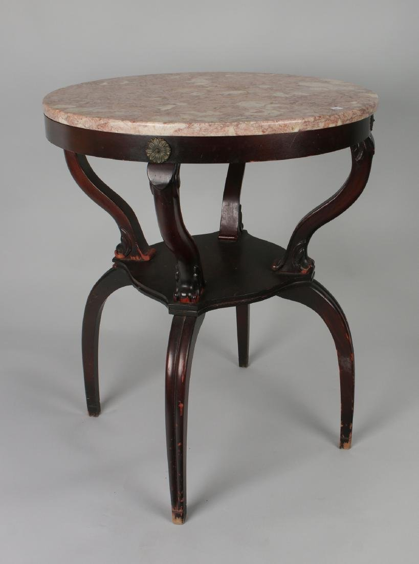 VINTAGE MARBLE TOP TABLE 1940S - 2