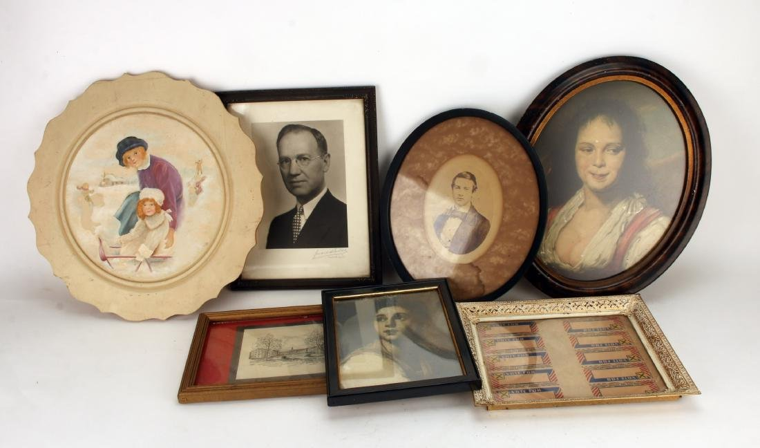 COLLECTION OF VINTAGE FRAMED ITEMS
