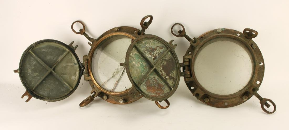 PAIR OF PORTHOLES WITH PORTHOLE COVERS
