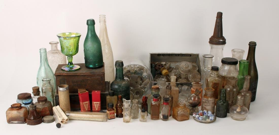 VINTAGE GLASS AND MEDICAL PARAPHERNALIA