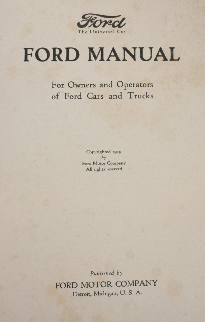 1919 VINTAGE FORD OWNER'S MANUAL - 2