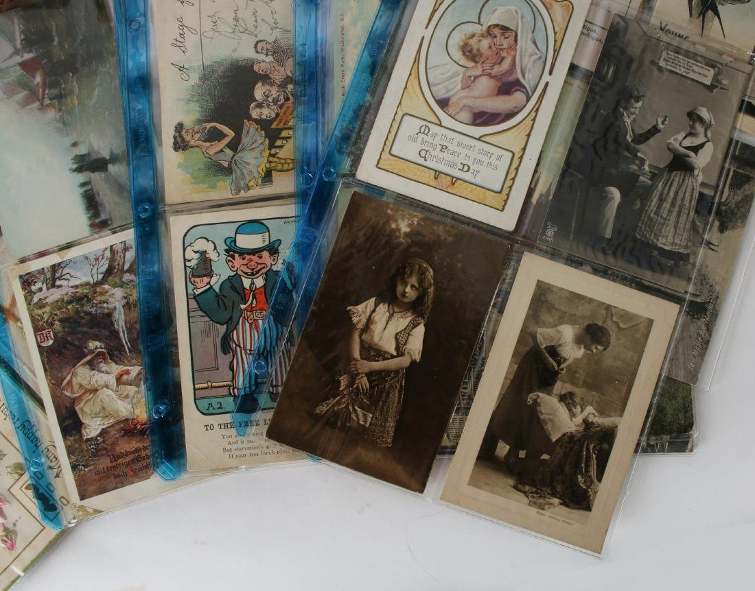 LARGE LOT POST CARDS, STAMPS, HALLMARK, CURRENCY - 5