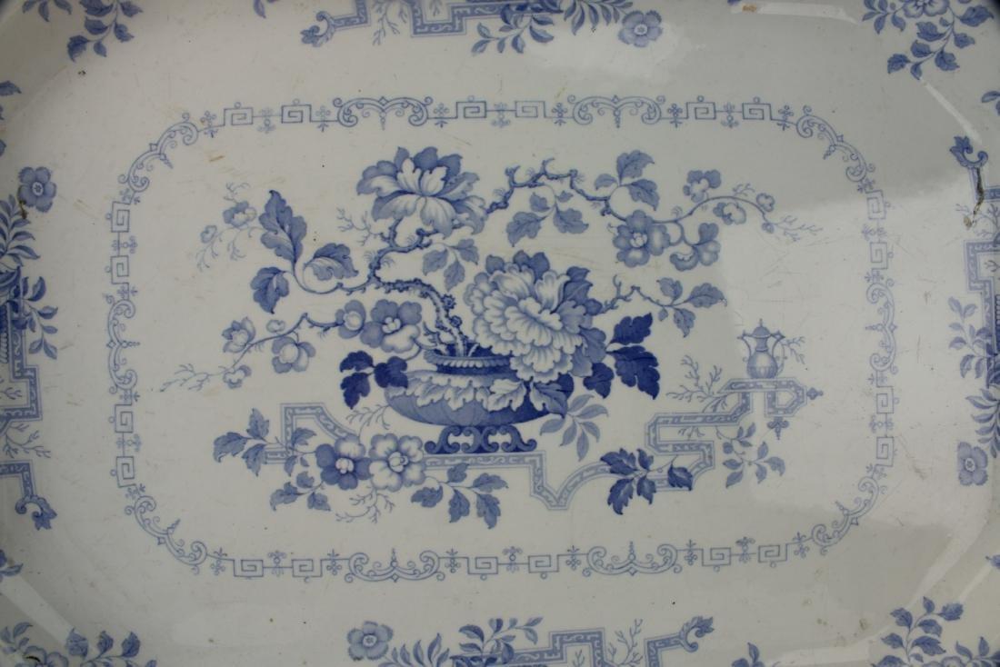 LARGE BLUE & WHITE NANKIN JAR IRONSTONE PLATTER - 2