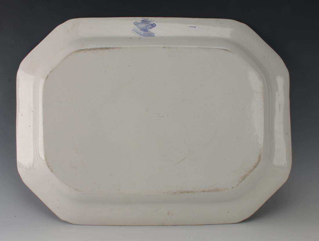 LARGE BLUE & WHITE NANKIN JAR IRONSTONE PLATTER - 5