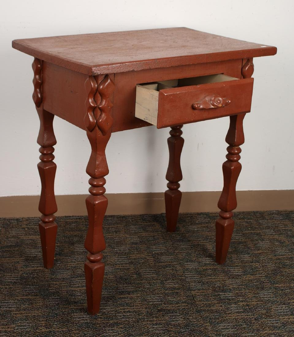 PAINTED END TABLE - 3