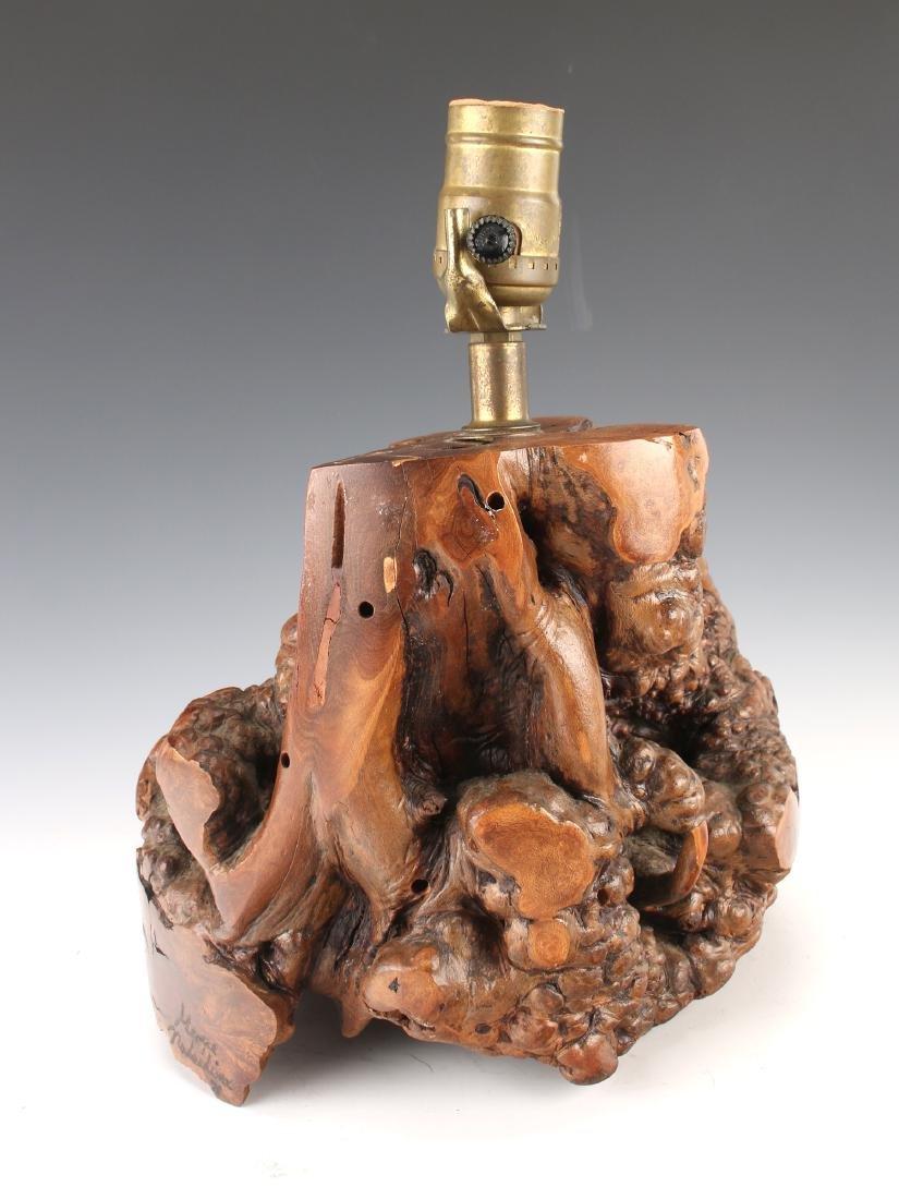 BURL WOOD TABLE LAMP SIGNED NAKASHIMA 71 - 3