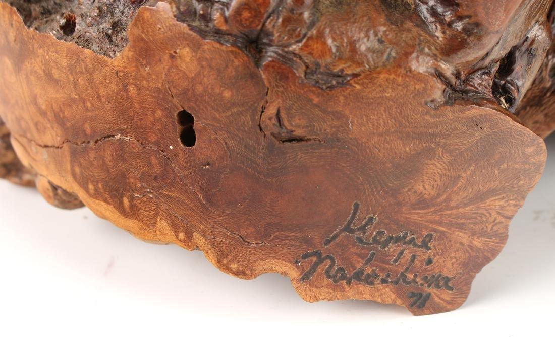 BURL WOOD TABLE LAMP SIGNED NAKASHIMA 71 - 5